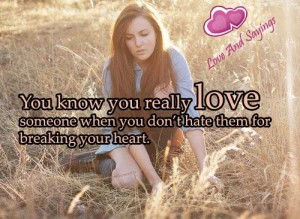 You Know You Really love Someone