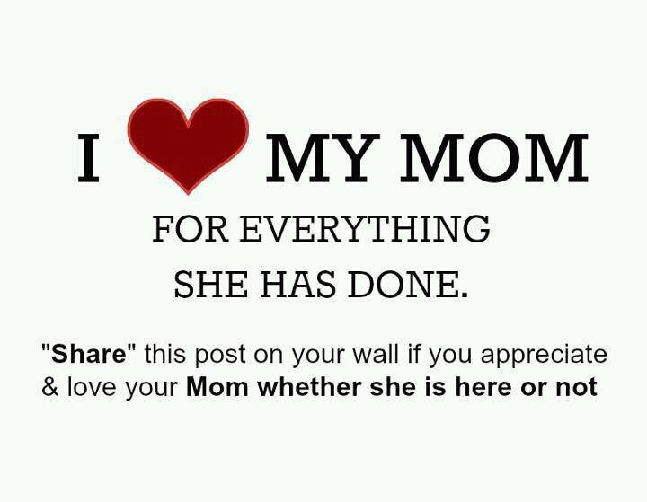 I Love You Quotes To Mom : Love Quotes For Facebook Mom. QuotesGram
