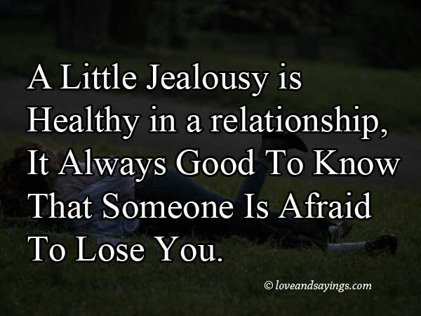 Little Jealousy In Relationship