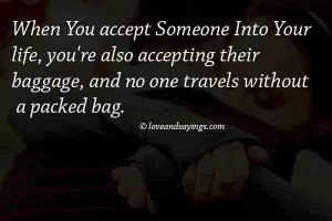 When You Accept Someone Into your Life