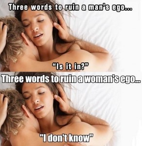 Men And Women Ego Problems…