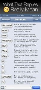 A Guide To What Text Replies Really Mean