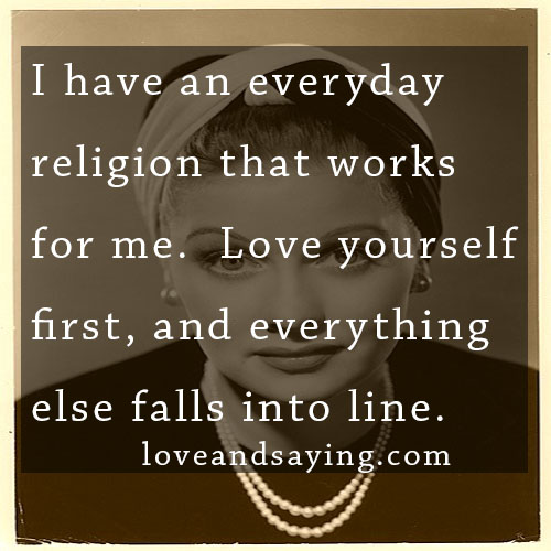 first love yourself love and sayings
