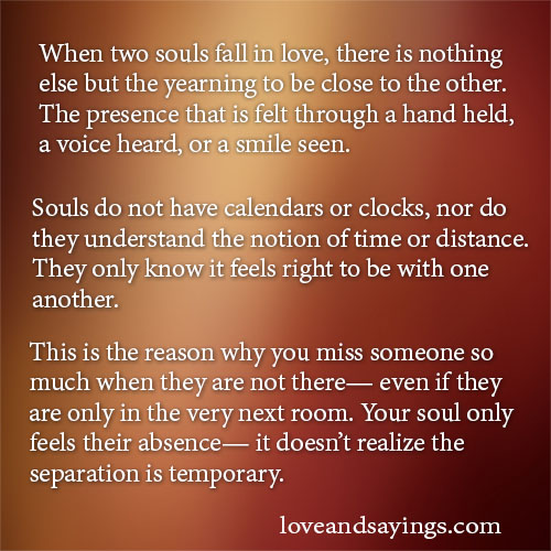Love Each Other When Two Souls: When Two Souls Fall In