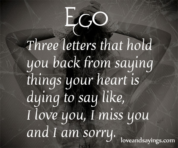I Love You, I Miss You And I Am Sorry - Love and Sayings