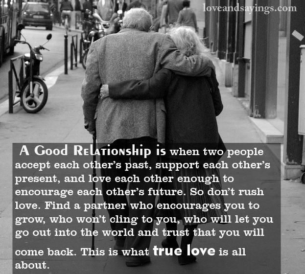 People That Love Each Other: A Good Relationship Is When Two People Accept Each Other's