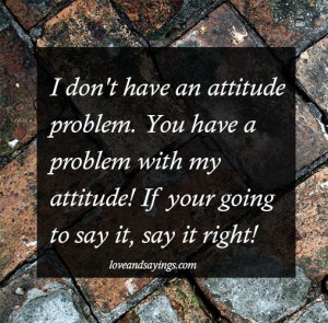 Don't Have An Attitude Problem