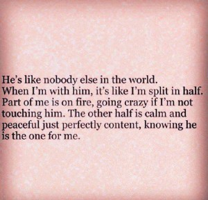 Knowing He is The One For Me