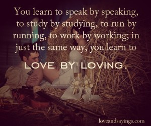 You Learn to speak by speaking