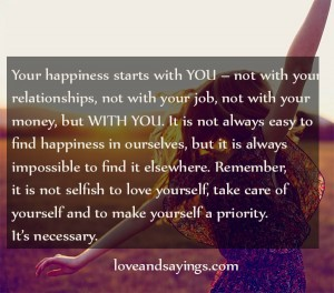 Your Happiness Starts With You