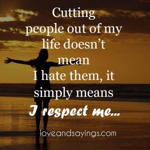 It Simply Means I Respect Me
