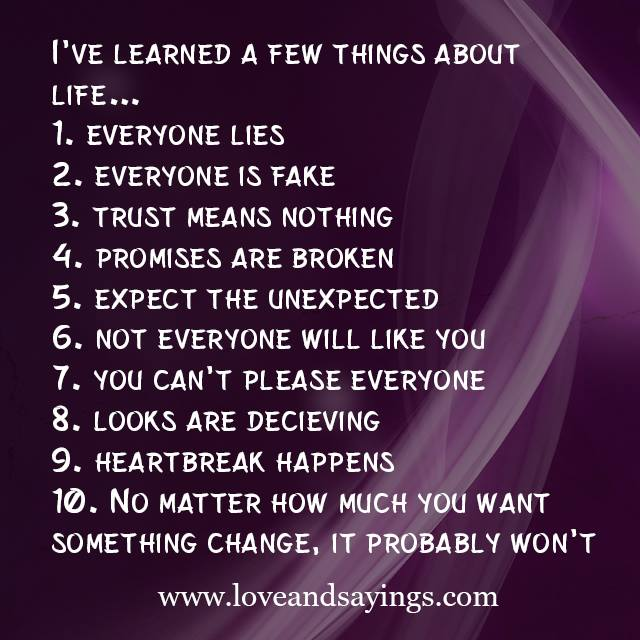 15 Tough Lessons I've Learned From Life