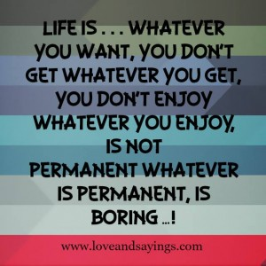 Life Is … Whatever You Want