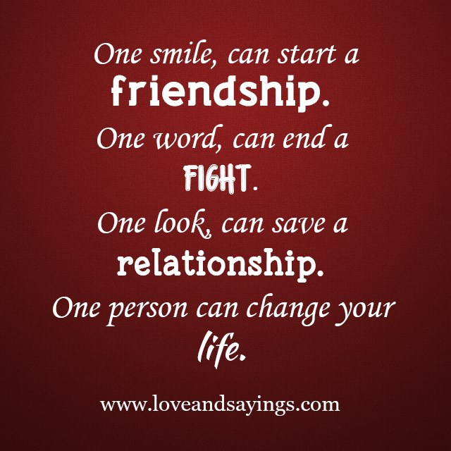 Save A Relationship Quotes: One Look, Can Save A Relationship