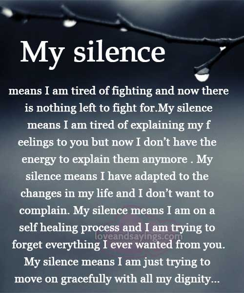 Silence And Love Quotes. QuotesGram