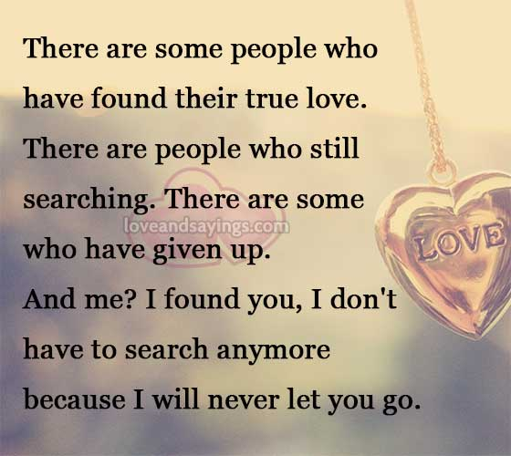 Never Let Go Love Quotes: I Will Never Let You Go