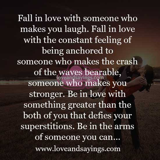 Fall In Love With The Constant Feelings Of Being