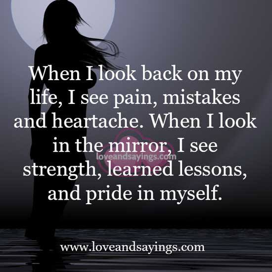 a look back at my life You are responsible for your life, for your feelings, for you actions, and for every  results you get you are in control of your thoughts you have.