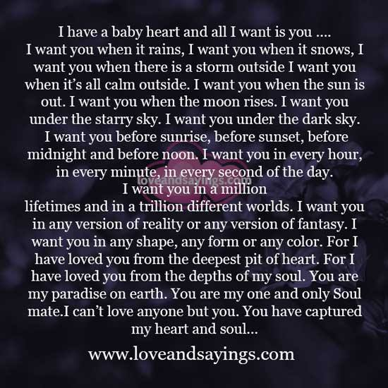 You Captured My Heart And Soul ...