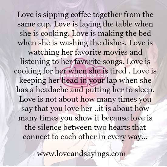 Love Each Other When Two Souls: Love Is The Silence Between Two Hearts That Connect To