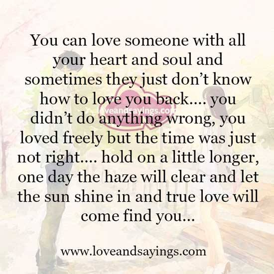 Love Finds You Quote: True Love Will Come Find You