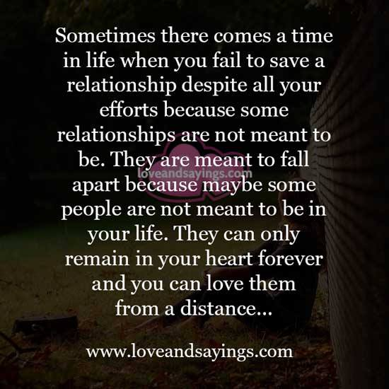Love Not Meant To Be Quotes