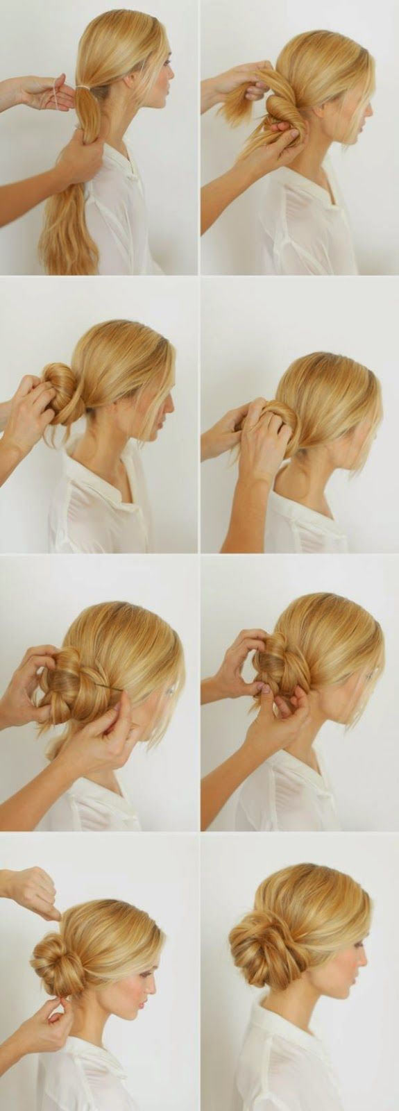 Easy Messy Buns For Long Hair Tutorial - Love and Sayings
