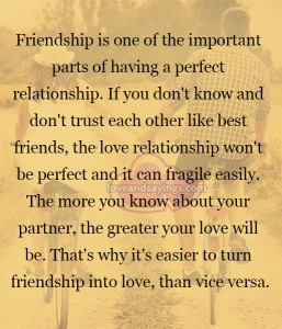 Parts of having a perfect relationship