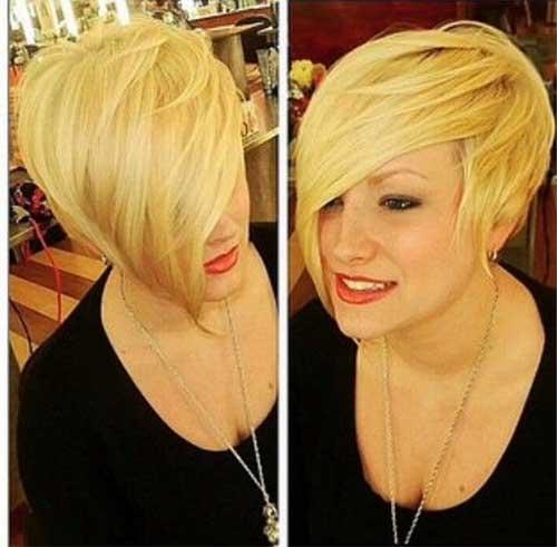 Asymmetric Blonde Short Haircut | Love and Sayings