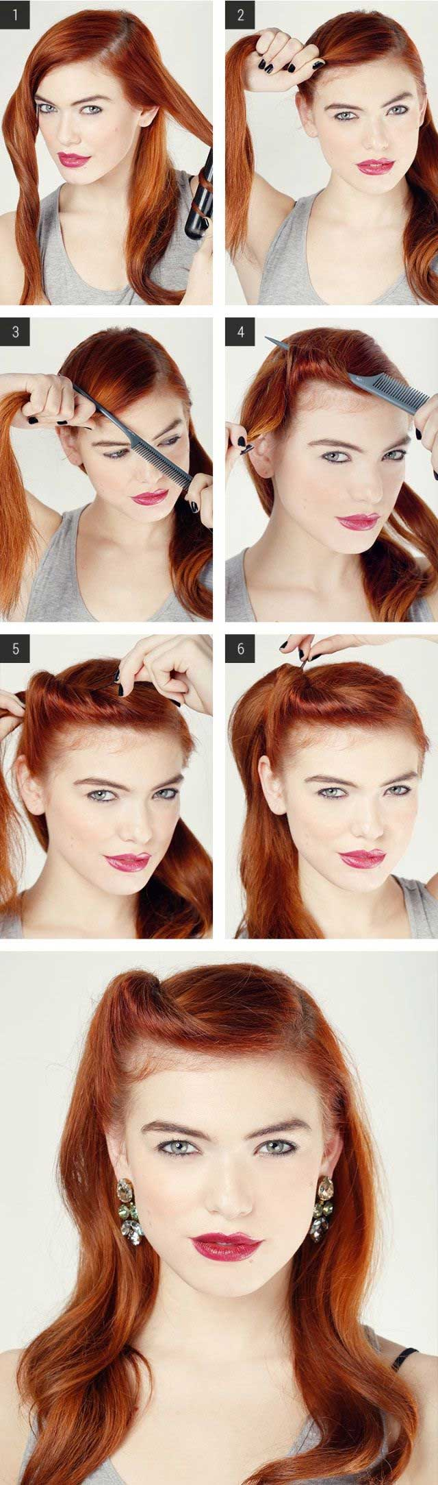 Easy Retro Hair Tutorial - Love and Sayings