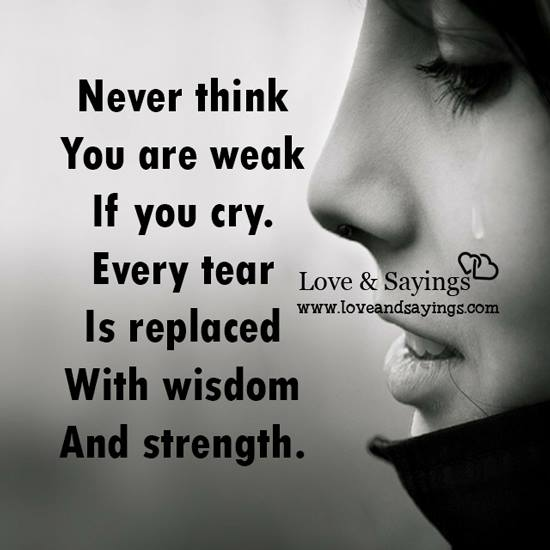 Never Think You Are Weak