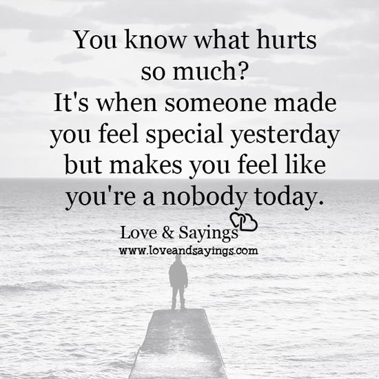 You Know What Hurts So Much