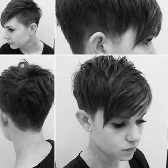 Cute Pixie Haircut Shaved Short Hairstyles