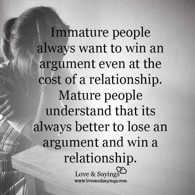 Better to lose an argument and win a relationship