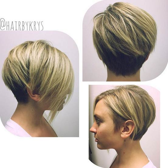 Short Haircut for Heart or Round Face Shape Love and Sayings
