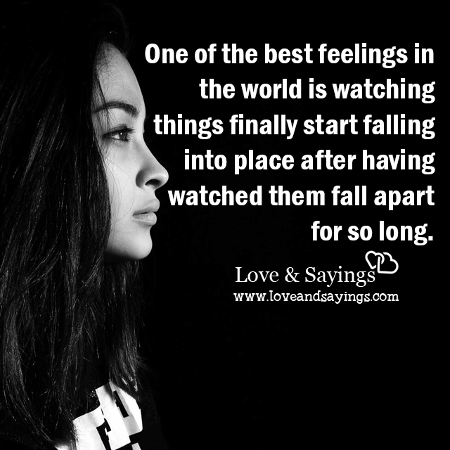 Beginning To Fall In Love Quotes: Things Finally Start Falling In To