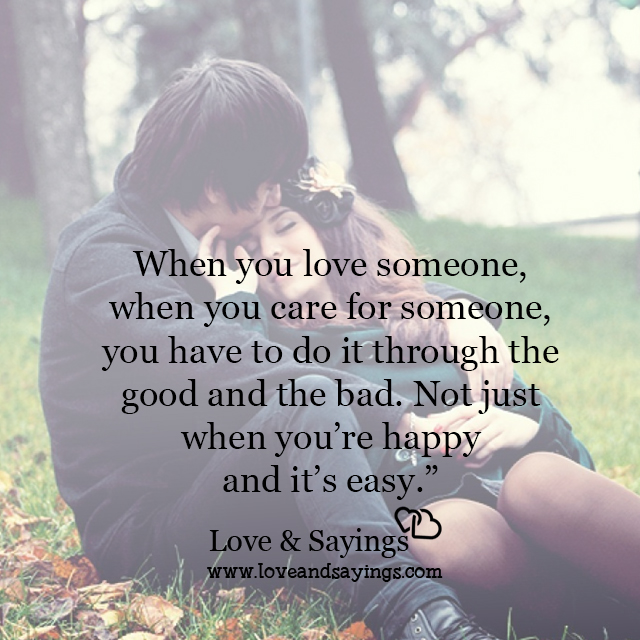 Quotes About Caring For Someone: When You Care For Someone
