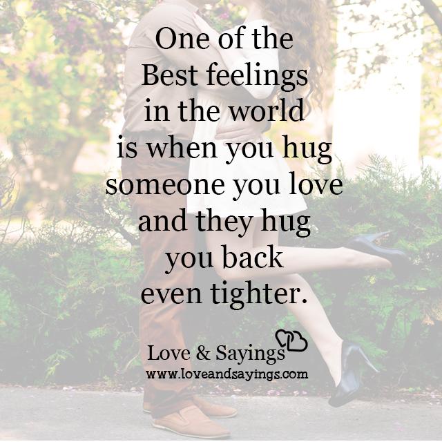 Hug you back even tighter