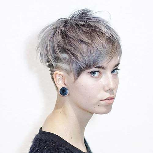 Short Side Shaved Hairstyle
