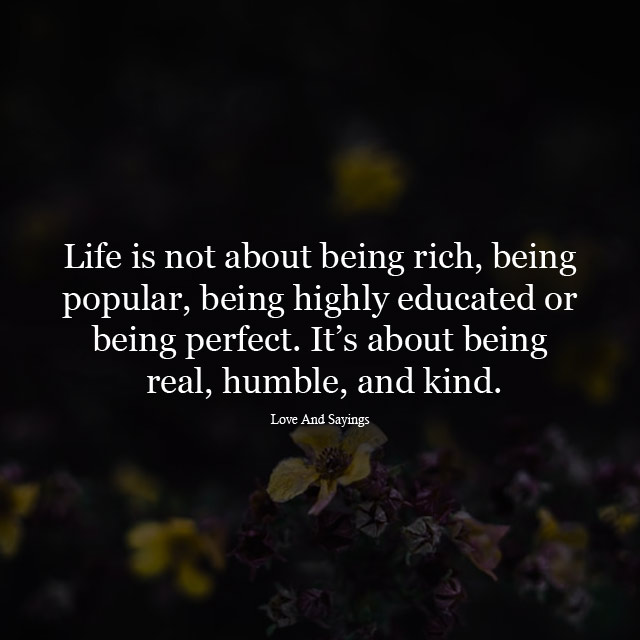 Its About Being Real