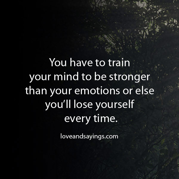 Train Your Mind to Be Stronger