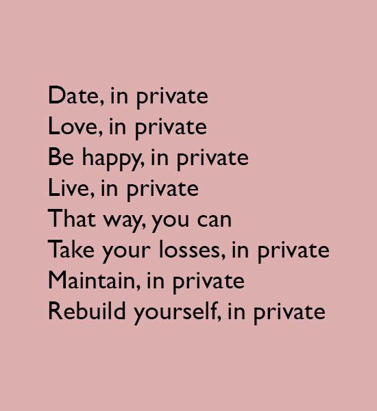 Rebuild yourself, in private