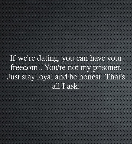 You can have your freedom