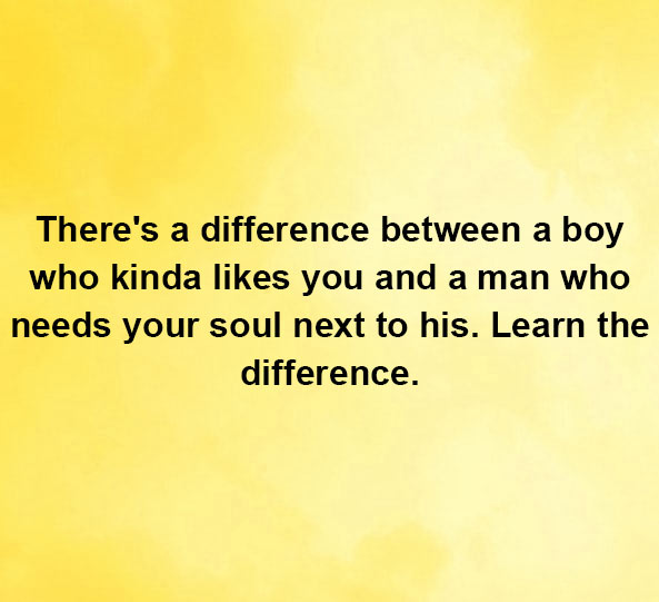 There's a difference between a boy